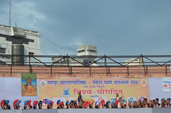 21st June JS Yog International Yoga Day Yashwant Stadium, Nagpur CM Devendra Fadnavis Union Minister Nitin Gadkari_44