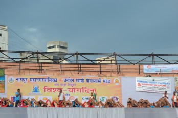 21st June JS Yog International Yoga Day Yashwant Stadium, Nagpur CM Devendra Fadnavis Union Minister Nitin Gadkari_50
