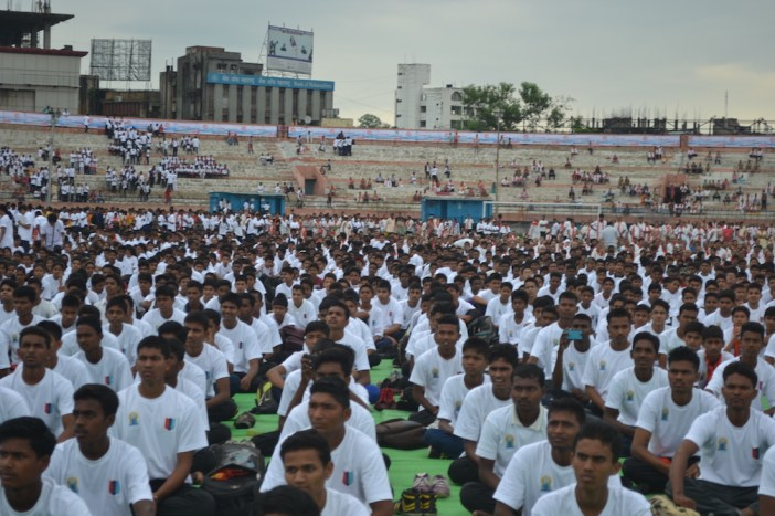 21st June JS Yog International Yoga Day Yashwant Stadium, Nagpur CM Devendra Fadnavis Union Minister Nitin Gadkari_84