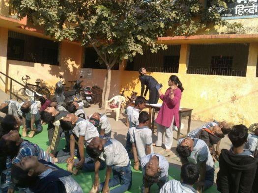 js yog shaleya spardha Corporation school bijli nagar and makardhokda