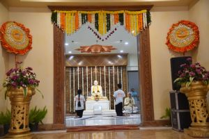 Vastu Shanti via collective yogasanas at the newly built Paduka bhawan 10