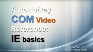 Autohotkey Internet explorer basic COM object