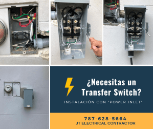 instalación de transfer switch