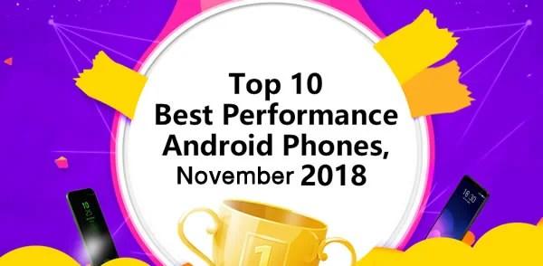 Top 10 meilleurs smartphone Android pour Novembre 2018
