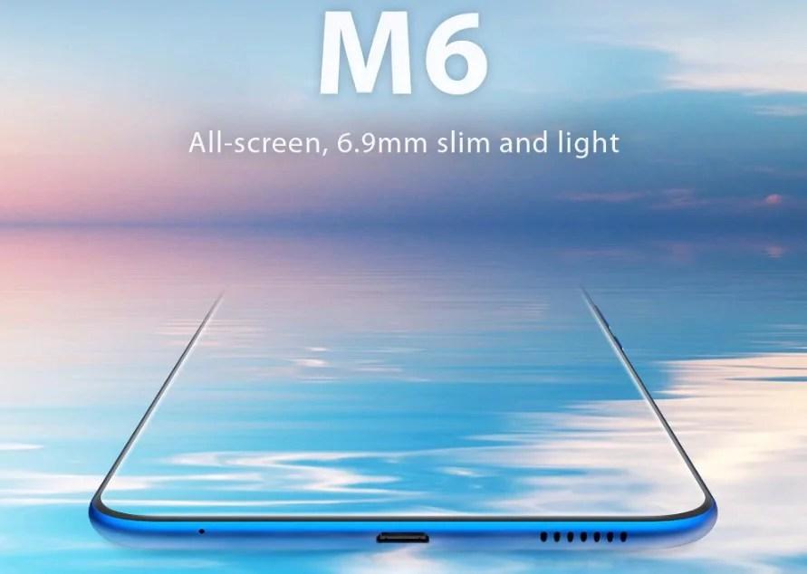 """Vernee M6, un smartphone chinois de 5.7"""" et seulement 6.9mm d'épaisseur."""