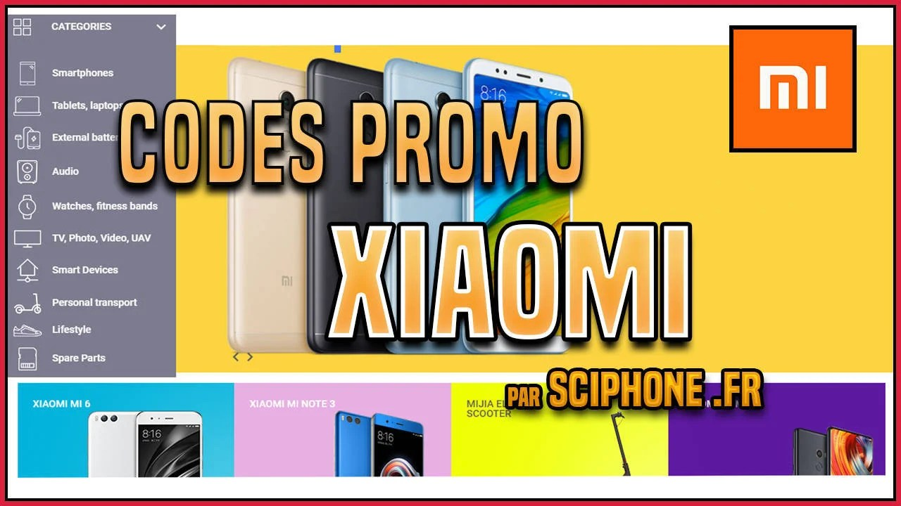 Codes promo, coupons et ventes flash Xiaomi du jour, 7 Octobre 2018 ! Up