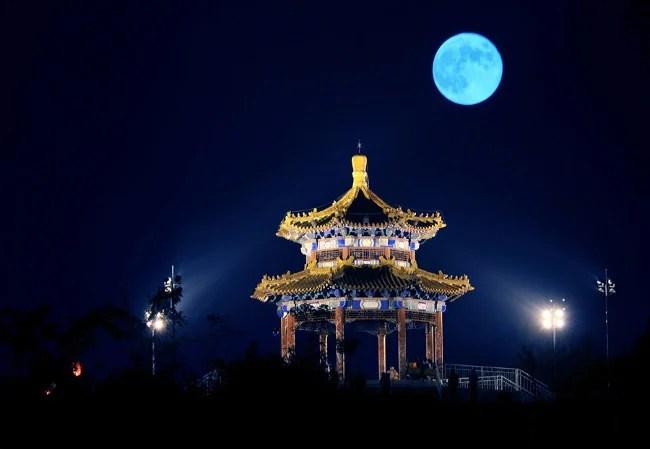 ciel chinois à la fête de la lune