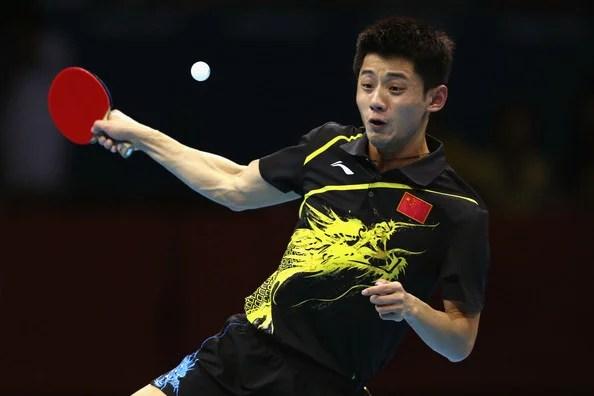 champion de tennis de table zhang jike