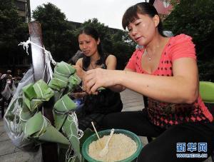 confection des zongzis