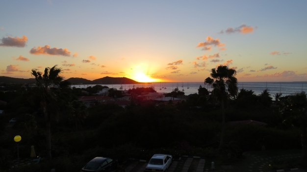 1st sunset in Sint Maarten