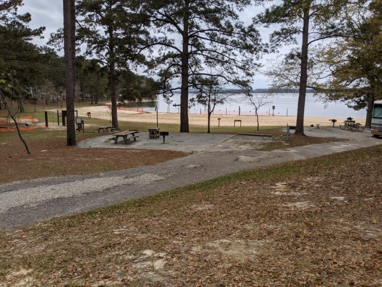 Cotton Hill Campground site near swimming beach