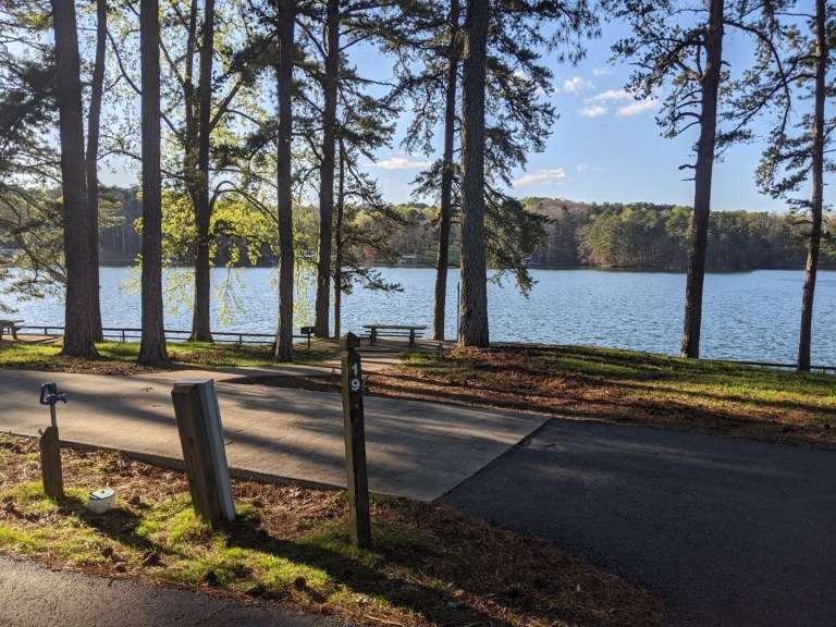 Sawnee campground site 19
