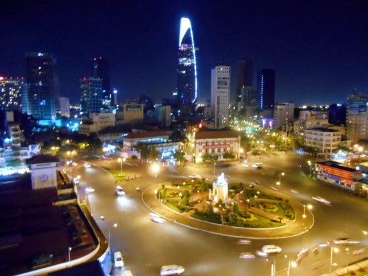 Nighttime view of Ho Chi Min City