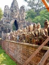 Entrance to Angkor Thom, Cambdodia