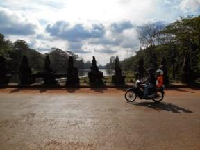 Motorbike at Angkor Thom