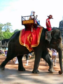 Elephant ride Angkor Thom, Cambodia