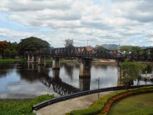 We visited the famous Bridge Over the River Kwai.