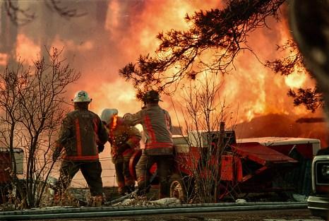 Editorial - Award winning photo of Port Colborne barn fire.