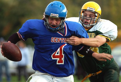 Editorial - Sports photography- High school football action.