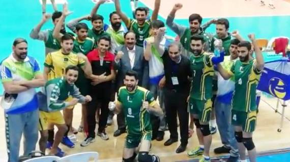 Tehran,Pakistan Volley Ball Team Celebrating his Win against India in Champion Ship