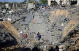 Israel attack and destrection in Gaza