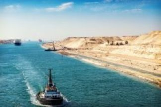 The Suez Canal of Egypt.