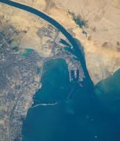 Suez Canal view in other angle