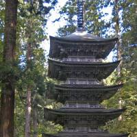 High points: The five-story pagoda at the base of Mount Haguro is quite possibly the finest in Japan. | CHRIS BAMFORTH PHOTO