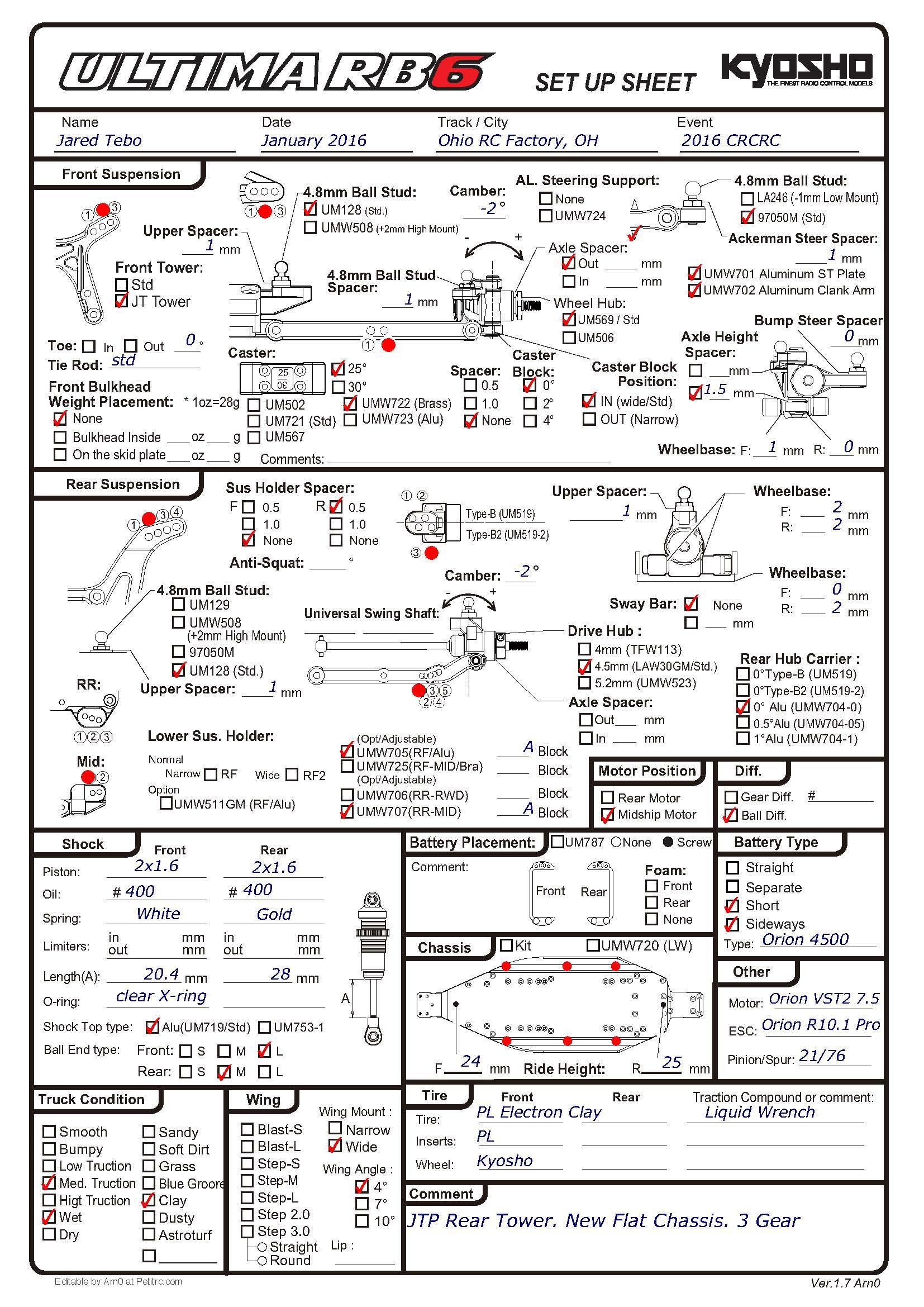 Kyosho Ultima Rb6 Amp Rb6 6 Car Thread