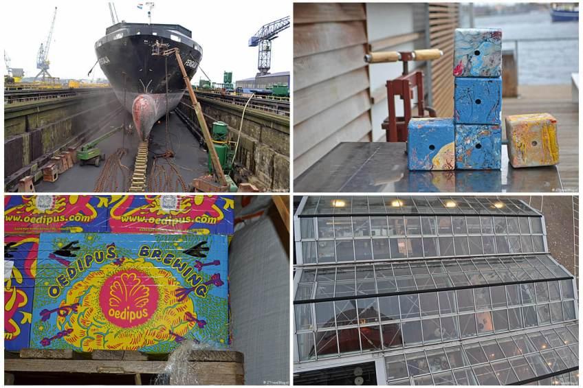 Instameet 24HNoord met bezoeken aan scheepswerf Damen Shiprepair Amsterdam, de GeWoonboot voor een workshop 'Verdien geld met je plastic afval' (heel actueel met de plastic soep waar steeds meer aandacht voor komt), Bierbrouwerij Oedipus en HoogtIJ