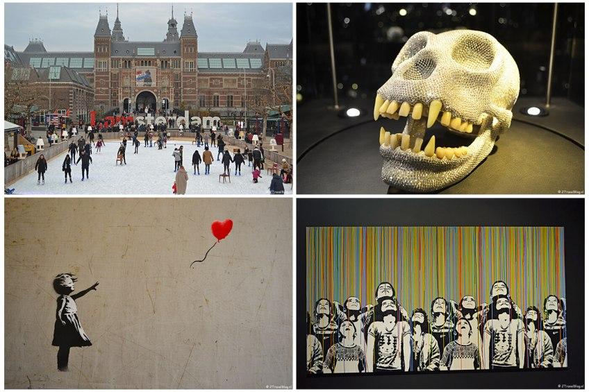 Uitje naar Amsterdam in het kader van mijn therapie met het Museumplein, Diamant Museum en het Moco Museum met schilderijen van Bansky en Icy & Sot