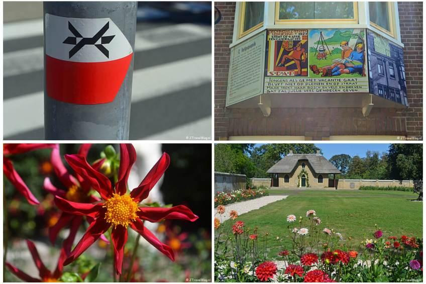 Mijn uitstapjes in augsutus 2020 : etappe 1 van het Westerborkpad en Kasteel Keukenhof met in de tuin mooie dahlia's