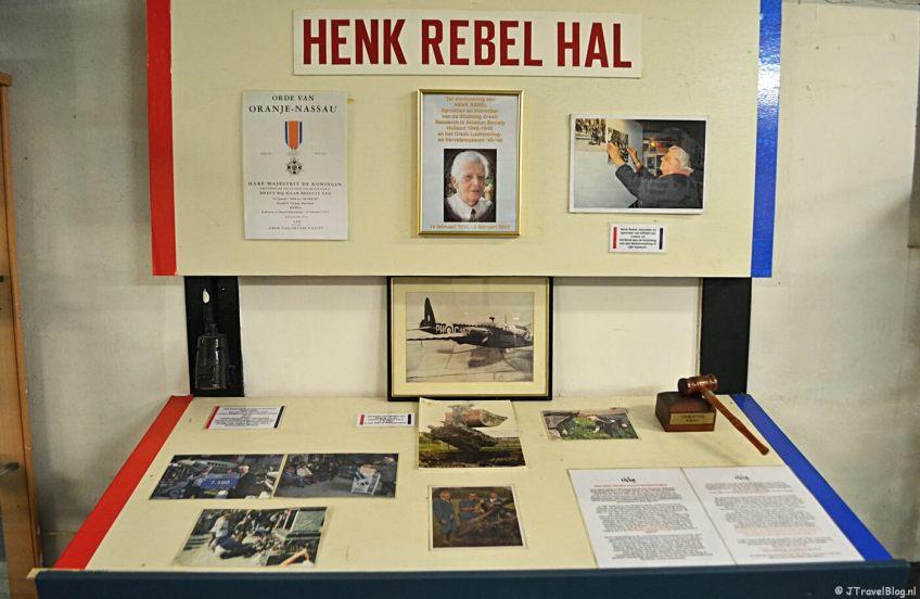Een eerbetoon aan Henk Rebel in het CRASH Luchtoorlog & Verzetsmuseum '40-'45 in Aalsmeerderbrug