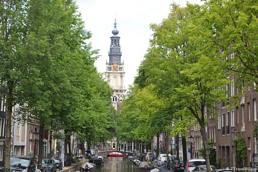De Zuiderkerk in Amsterdam tijdens etappe 0 van het Westerborkpad