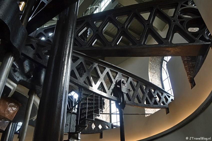 De balansarmen bij de stoommachine in het Cruquius Museum
