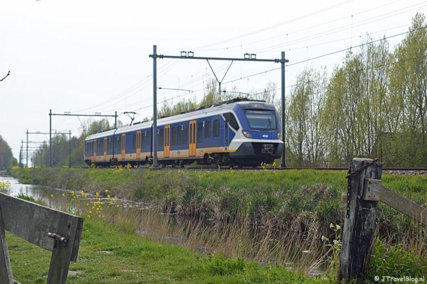 Het spoor en de trein tijdens de Trage Tocht Lisse