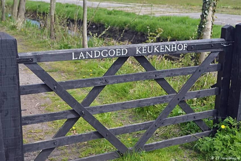 Een hek bij Landgoed Keukenhof
