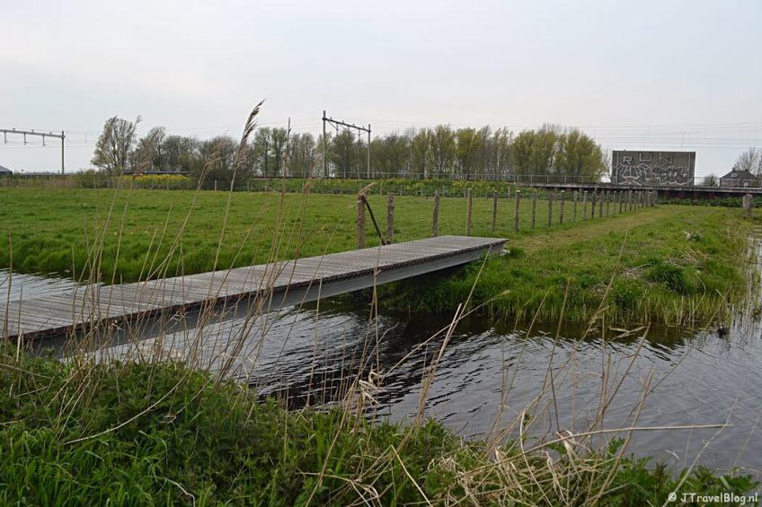 Een bruggetje tijdens de Trage Tocht Lisse