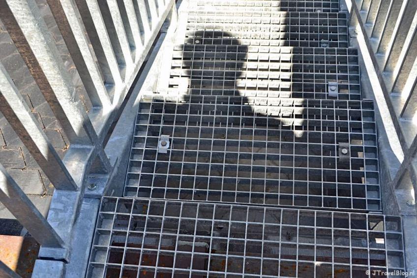 Me and my shadow op de trap op het dak van de Koepelkathedraal in Haarlem tijdens 'De Wezens van de Kathedraal'