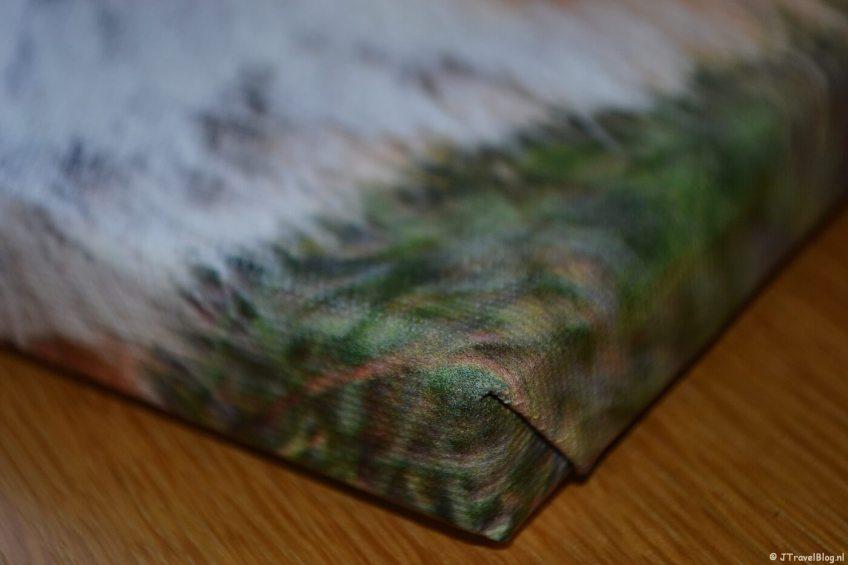 De afwerking van mijn foto op canvas van Fotofabriek.nl
