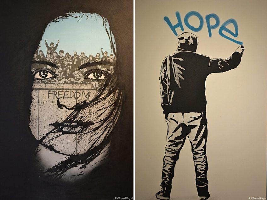 'Portrait of Freedom' en 'Hope' van Icy & Sot