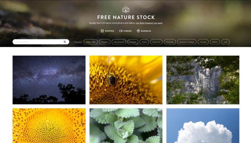 Free Nature Stock: een website met gratis afbeeldingen