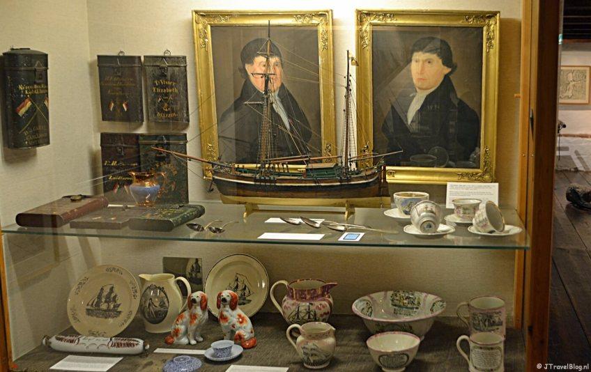 Voorwerpen in het Noordelijk Scheepvaartmuseum in Groningen.