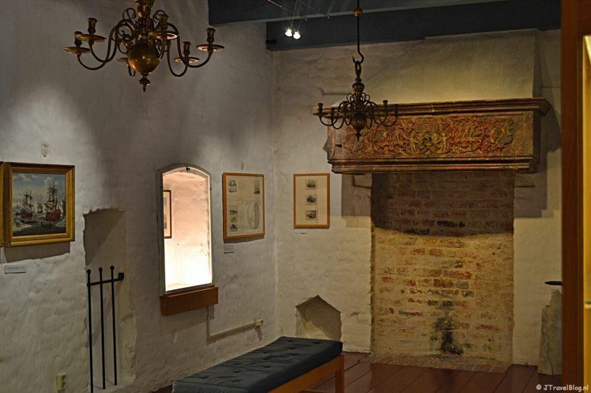 Originele elementen in het Noordelijk Scheepvaartmuseum in Groningen.