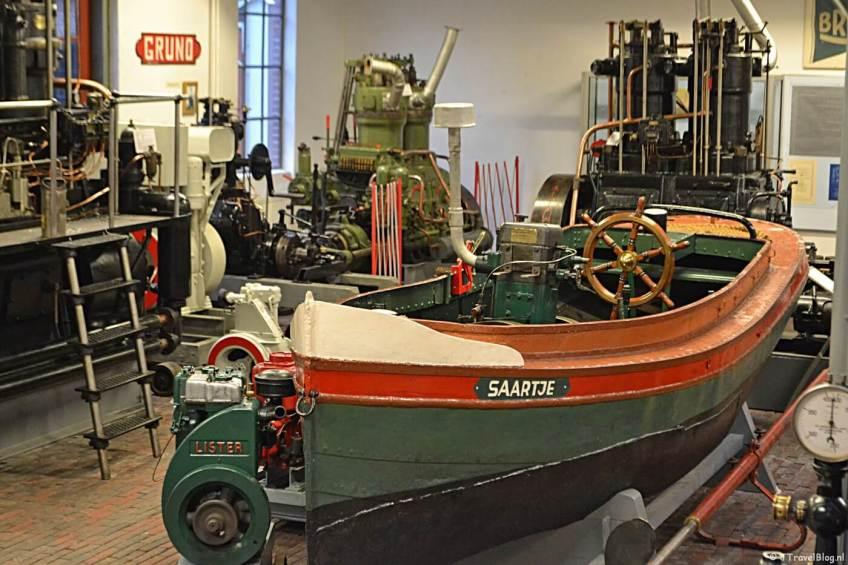 In de machinekamer van het Noordelijk Scheepvaartmuseum in Groningen.