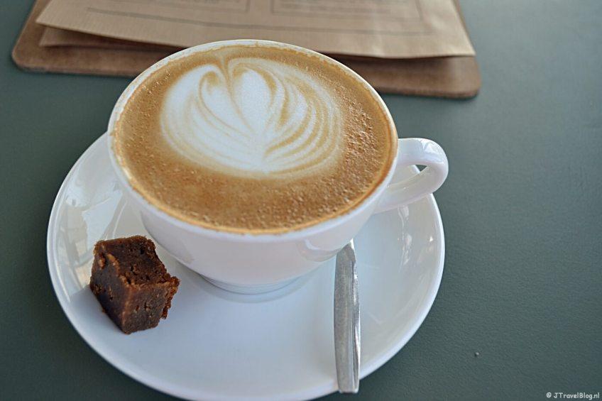 Cappuccino in DeDAKKAS in Haarlem