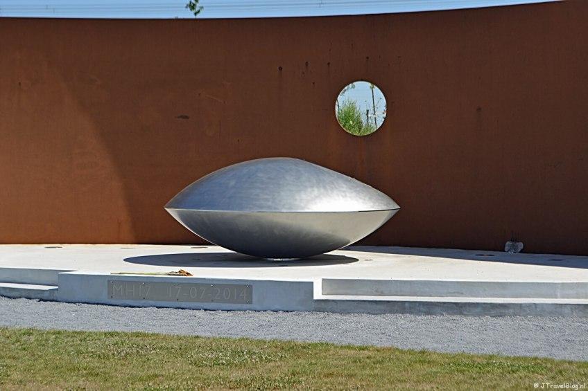 Het Monument MH17 in Vijfhuizen in juni 2018.