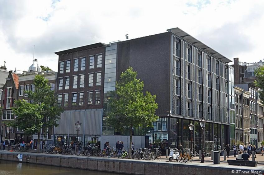 Het Anne Frank Huis in Amsterdam tijdens etappe 0 van het Westerborkpad