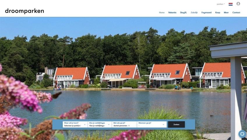 De website van Droomparken