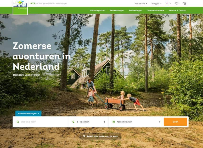 De website van van Landal Greenparks